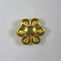 Metall-Perle Blume 7mm gold