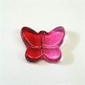 Acryl-Perle Schmetterling rot/pink