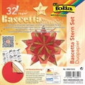 Origami-Papier 15x15cm 32Bl rot/gold